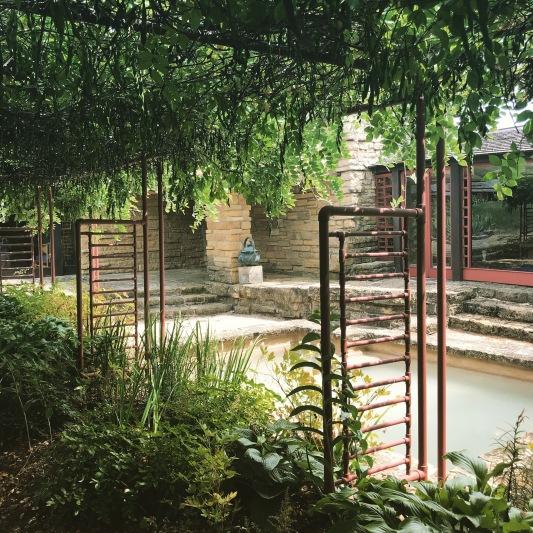 pool/garden off the bedroom
